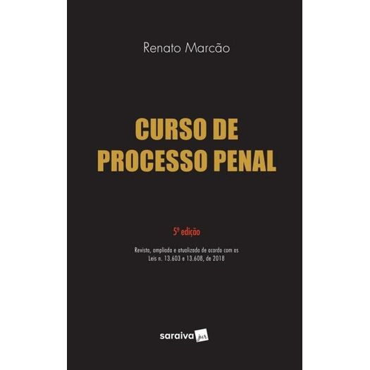 Curso de Processo Penal - Marcao - Saraiva