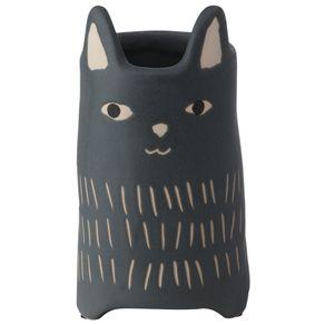 Cutie Kitty Vaso 18 Cm Preto/bege
