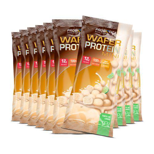 Cx 12 Unidades Wafer Protein Bar Mini Choco Ball Probiótica
