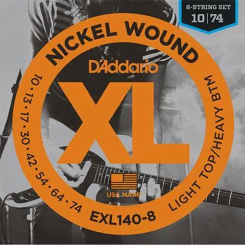 D'addario - Encordoamento 010 para Guitarra 8 Cordas Exl140