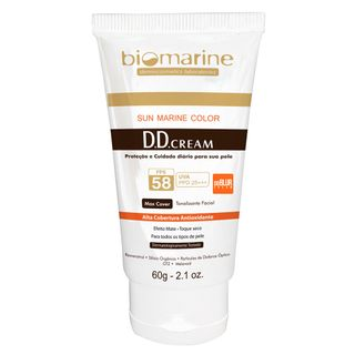 DD Blur Cream Fps58 Biomarine - Tratamento Antimanchas 60g Bronze