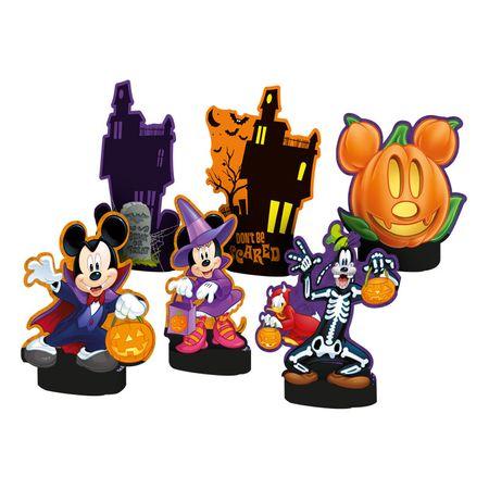 Decoração de Mesa Halloween Disney Decoração de Mesa Personagens Halloween Disney - 06 Unidades