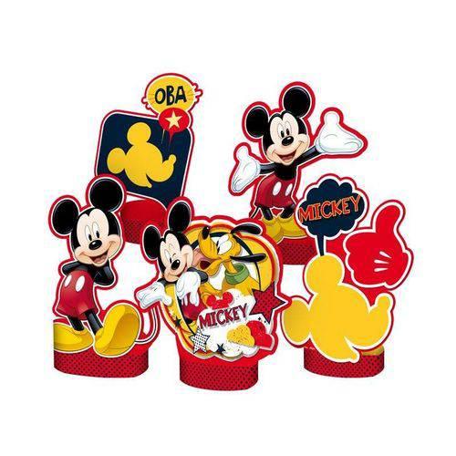 Decoração de Mesa Mickey Clássico 5 Unidades
