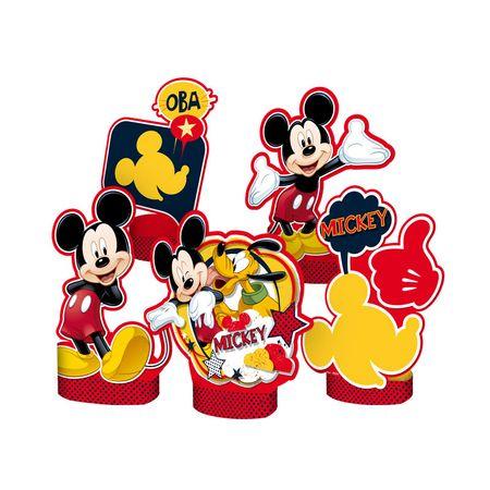 Decoração de Mesa Mickey Clássico Decoração de Mesa Personagens Mickey Clássico - 05 Unidades