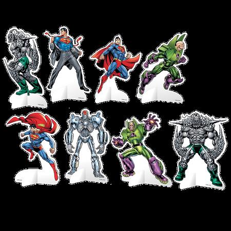 Decoração de Mesa Personagens Super Homem - 08 Unidades