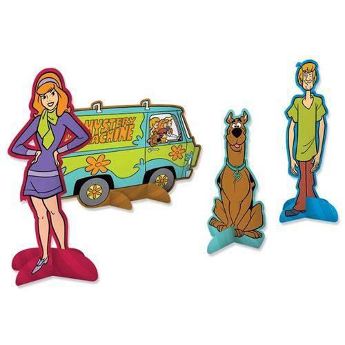 Decoração de Mesa Scooby Doo C/ 08 Unidades