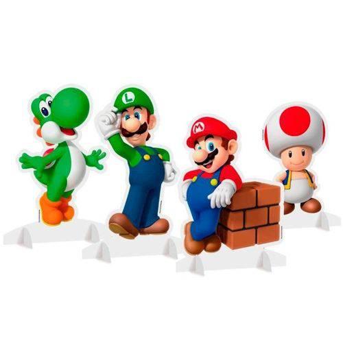 Decoração de Mesa Super Mario C/ 04 Unidades