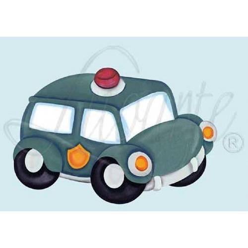 Decoração para Parede Mdf Decoupage Carro de Polícia Dma3-021 - Litoarte