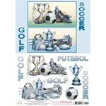 Decoupage Adesiva 3D Hot Stamp DH3-14 Litoarte