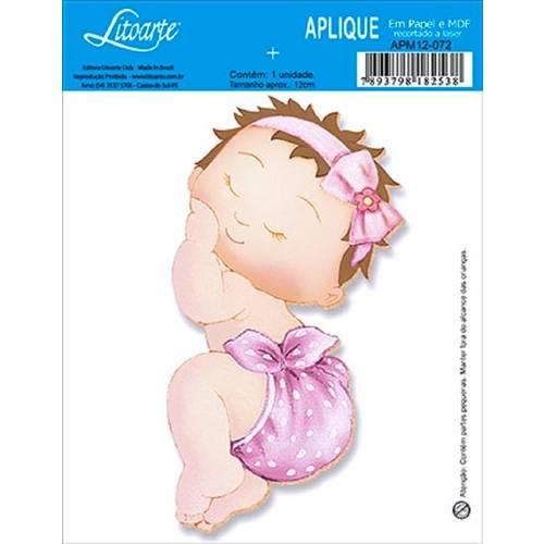 Decoupage Aplique em Papel e Mdf Bebê Apm12-072 - Litoarte