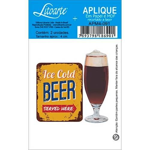 Decoupage Aplique em Papel e Mdf Bebida Apm4-091 - Litoarte