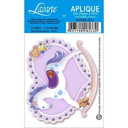 Decoupage Aplique em Papel e Mdf Cavalinho Apm8-331 - Litoarte