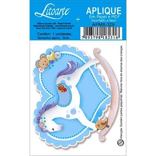 Decoupage Aplique em Papel e Mdf Cavalinho Apm8-329 - Litoarte