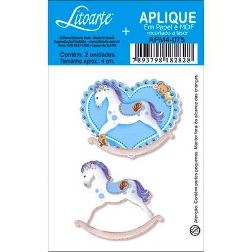 Decoupage Aplique em Papel e Mdf Cavalinhos Apm4-075 - Litoarte
