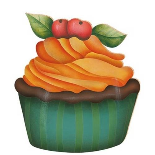Decoupage Aplique em Papel e Mdf Cup Cake Apm8-066 Litoarte