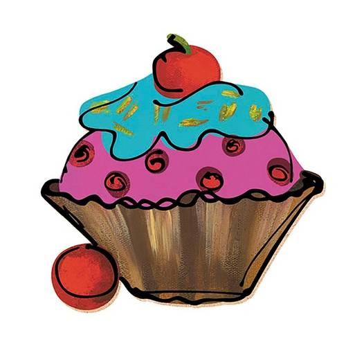 Decoupage Aplique em Papel e Mdf Cup Cake Apm8-130 - Litoarte