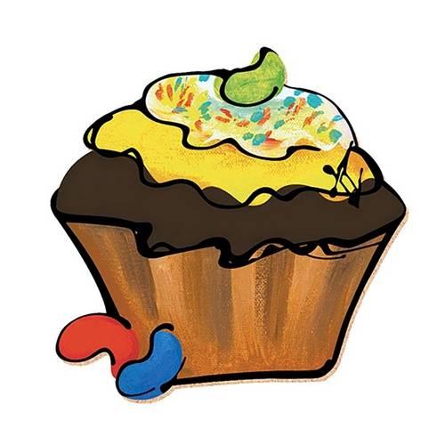 Decoupage Aplique em Papel e Mdf Cup Cake Apm8-129 - Litoarte