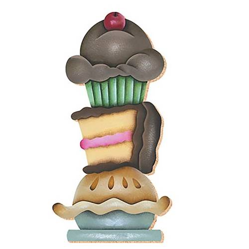 Decoupage Aplique em Papel e Mdf Cup Cake Apm8-273 - Litoarte