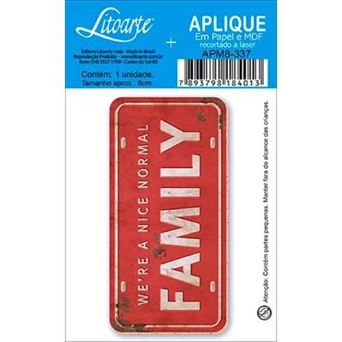 Decoupage Aplique em Papel e Mdf Mensagem Family Apm8-337 - Litoarte