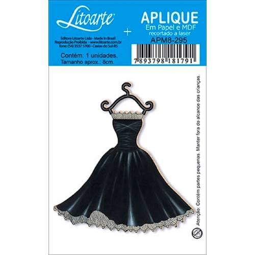 Decoupage Aplique em Papel e Mdf Vestido Apm8-295 - Litoarte