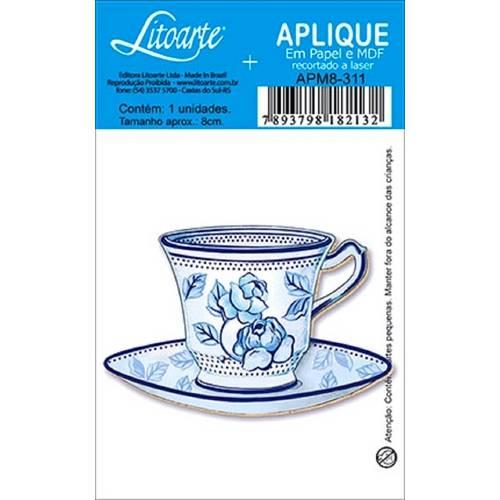 Decoupage Aplique em Papel e Mdf Xícara Apm8-311 - Litoarte