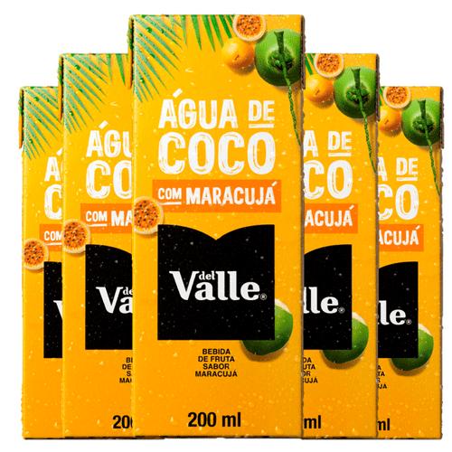 Del Valle Água de Coco com Maracujá - 200 Ml (Pack 6 Unidades)