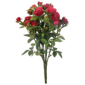 Delicada Mini Rosa Bouquet Vermelho/verde