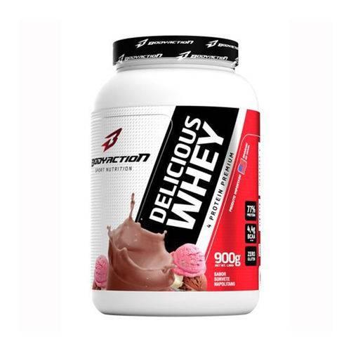 Delicious Whey (900g) Body Action - Sorvete Napolitano