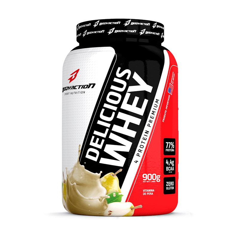 Delicious Whey (900g) Body Action -Vitamina de Pêra