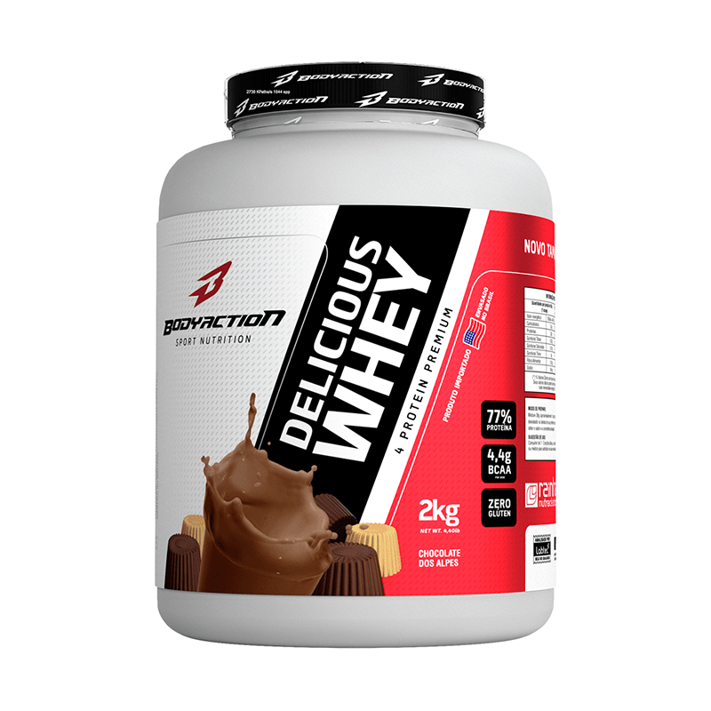 Delicious Whey (2kg) Body Action -Chocolate dos Alpes