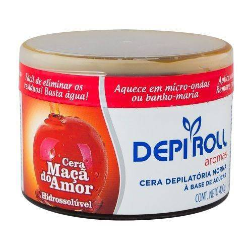 Depi Roll - Cera Hidrossolúvel Maça do Amor - 400g