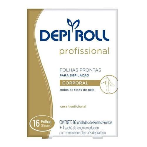 Depi Roll Folha Pronta Depilação Corporal Tradicional - 8 Pares