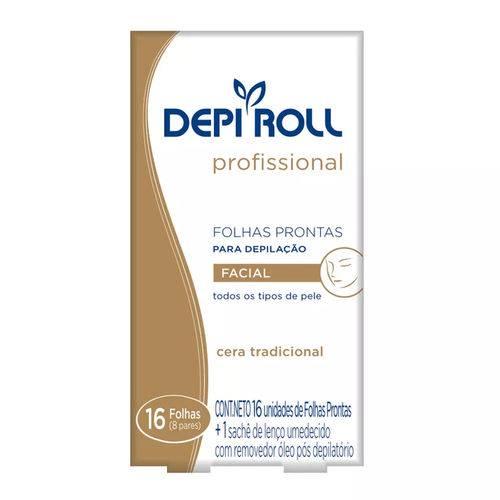 Depi Roll Folha Pronta Depilação Facial Tradicional - 8 Pares