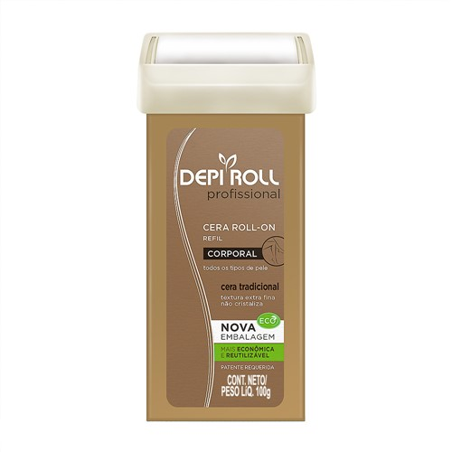 Depilador DepiRoll Profissional Corporal Roll-on Refil com 100g