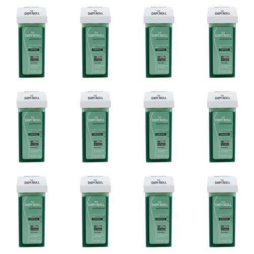 Depiroll Cera Depilatória Corporal Verde Refil 100g (kit C/12)