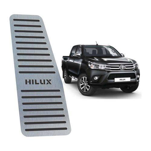 Descanso de Pé Toyota Hilux 2016 Até 2019 Preto Aço Inox
