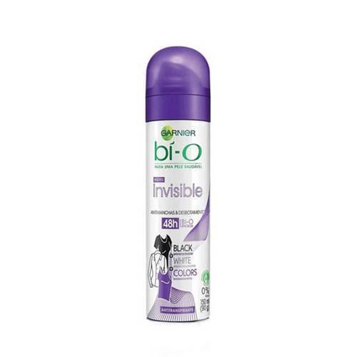 Desodorante Aerosol Bi o Feminino Invisible Black White Colors com 150 Ml