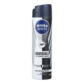 Desodorante Aerosol Invisible Black & White For Men Nívea 91g