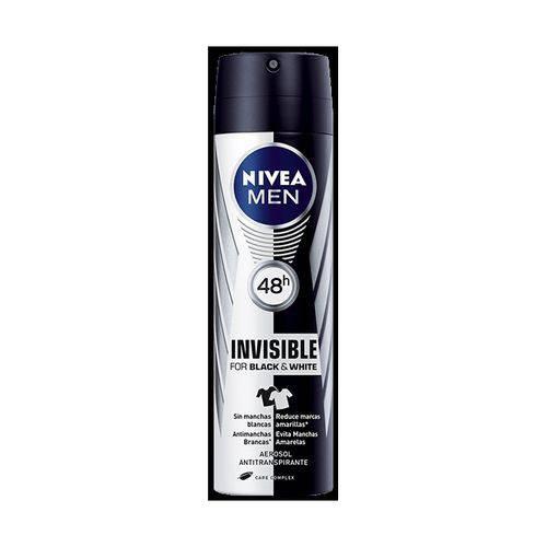 Desodorante Aerosol Nivea 150ml Masculino Black White Power Unit