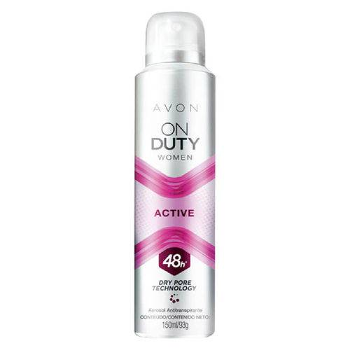 Desodorante Aerossol Antitranspirante On Duty Women Active - 150ml