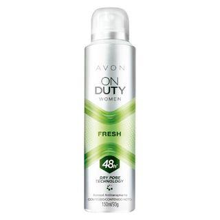 Desodorante Aerossol Antitranspirante On Duty Women Fresh - 150ml