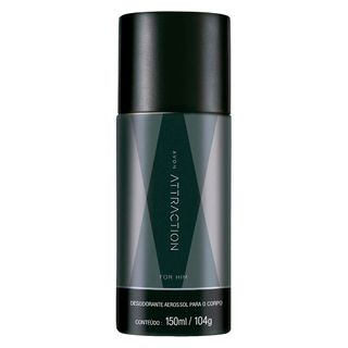 Desodorante Aerossol Attraction For Him - 150 Ml