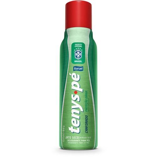 Desodorante Antisséptico Tenys Pé Baruel Jato Seco Canforado