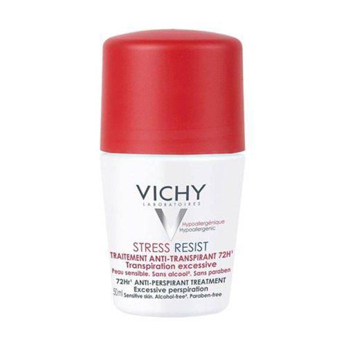 Desodorante Antitranspirante Rollon 72h Stress Resist Transpiração Excessiva Vichy 50ml