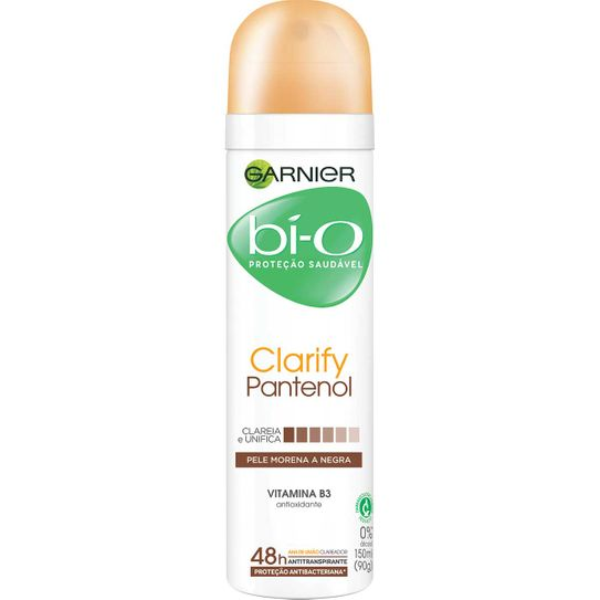 Desodorante Bio Clarify Pantenol Pele Morena e Negra Aerossol 150ml