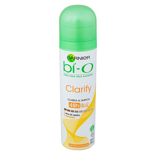 Desodorante Garnier Bí-O Clarify Aerosol Antitranspirante 48h com 150ml