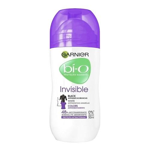 Desodorante Garnier Bí-O Invisible Black White Colors Roll-on com 50ml