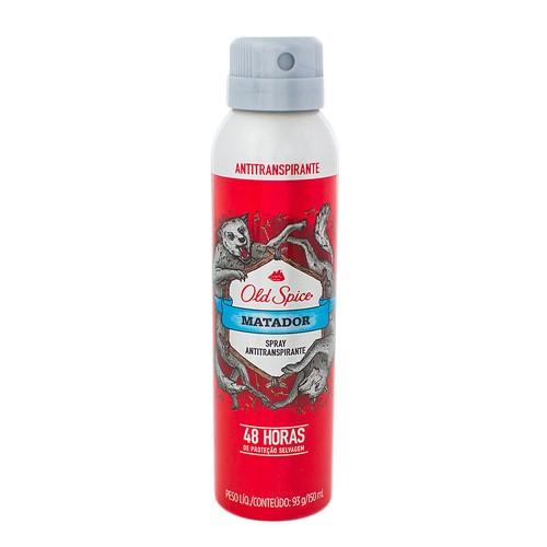 Desodorante Old Spice Matador Spray Antitranspirante 48h com 150ml