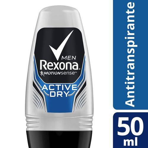 Desodorante Roll-on Rexona 50ml Masculino Active Unit