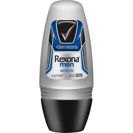 Desodorante Roll-On Rexona Masculino Active 50ml